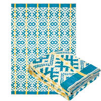 Одеяло полушерстяное Ярослав 140 x 205 см Голубой-Белый-Жёлтый (Yar1229/2.2)