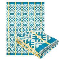 Одеяло полушерстяное Ярослав 170 x 205 см Голубой-Белый-Жёлтый (Yar1231/2.2)
