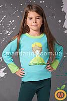Джемпер теплый для девочки 4, 5, 6 лет (104, 110, 116 размер)