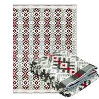 Одеяло полушерстяное Ярослав 140 x 205 см Серый-Коричневый-Красный (Yar1229/2.3)