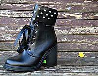 Стильные полусапожки на шнуровке , фото 1