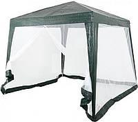 Садовый павильон с сеткой с одной стороны 3 х 3 м, фото 1