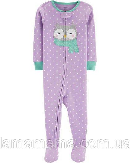 Хлопковая пижама слип Сова Картерс 1-Piece Owl Snug Fit Cotton PJs Carter s e9f43d4cc3542