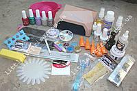 Стартовый набор для маникюра, педикюра, наращивания ногтей и покрытия гель-лаком с LED-лампой