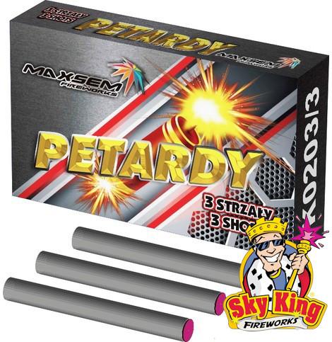 Петарда PETARDY 3 SHOTS шт. Пиротехника. K0203/3 =