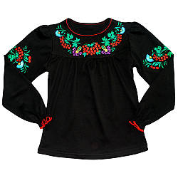 Блузка-вишиванка для дівчинки оптом