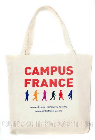 Тканевая промо-сумка с вашим лого от 100 шт.