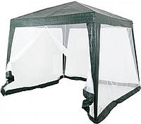 Садовый павильон с сеткой с одной стороны 3 х 3 м