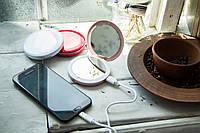 Зеркало-пудреница с подсветкой, зарядное устройство power bank, удобный подарок