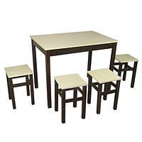 Комплект Видрис Стол + 4 табурета 93х60х75