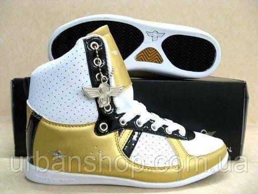 Кросівки SUPREME x Creative White/Black/Gold. CR X. Розміри : 37; 38; 39; 40.