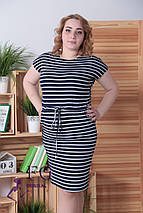 Платье-тельняшка «Элина»  Батал, фото 3