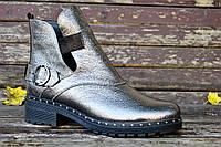 Женские осенние ботинки никель , фото 1
