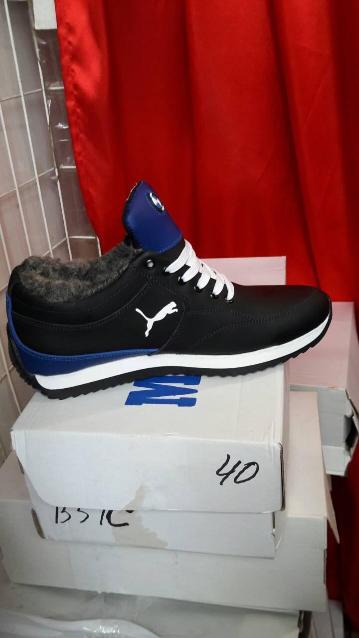 Мужские зимние кожаные кроссовки Puma (реплика)  продажа d3eb54bb900d6
