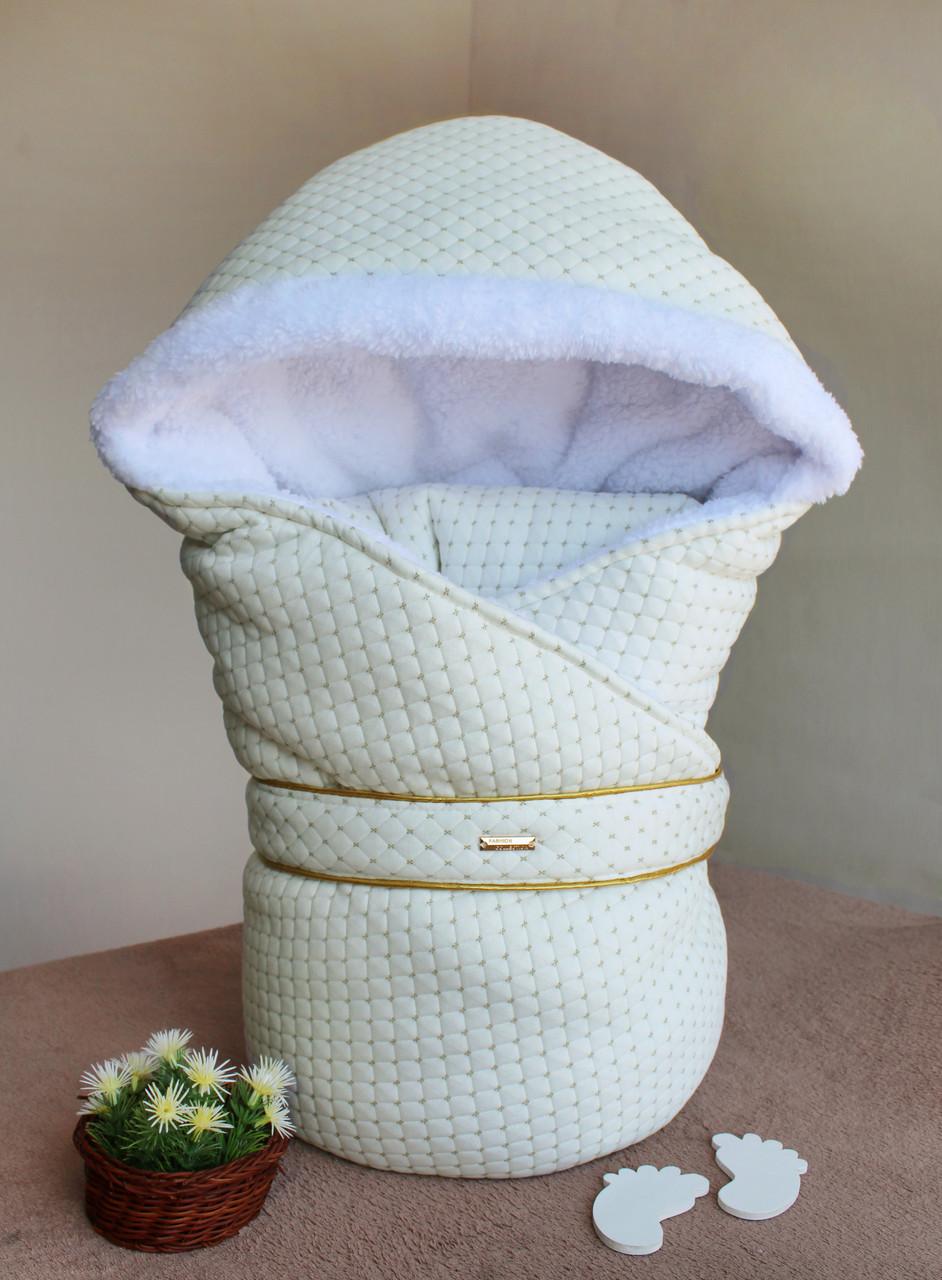 Зимний конверт-одеяло на выписку Winter style