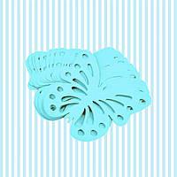 Декор бумажные бабочки (уп. 24шт) голубой