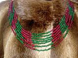 Бусы изумруд рубин, ожерелье с натуральным рубином изумрудом. Индия!, фото 2