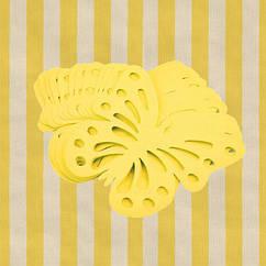 Декор бумажные бабочки (уп. 24шт) желтый