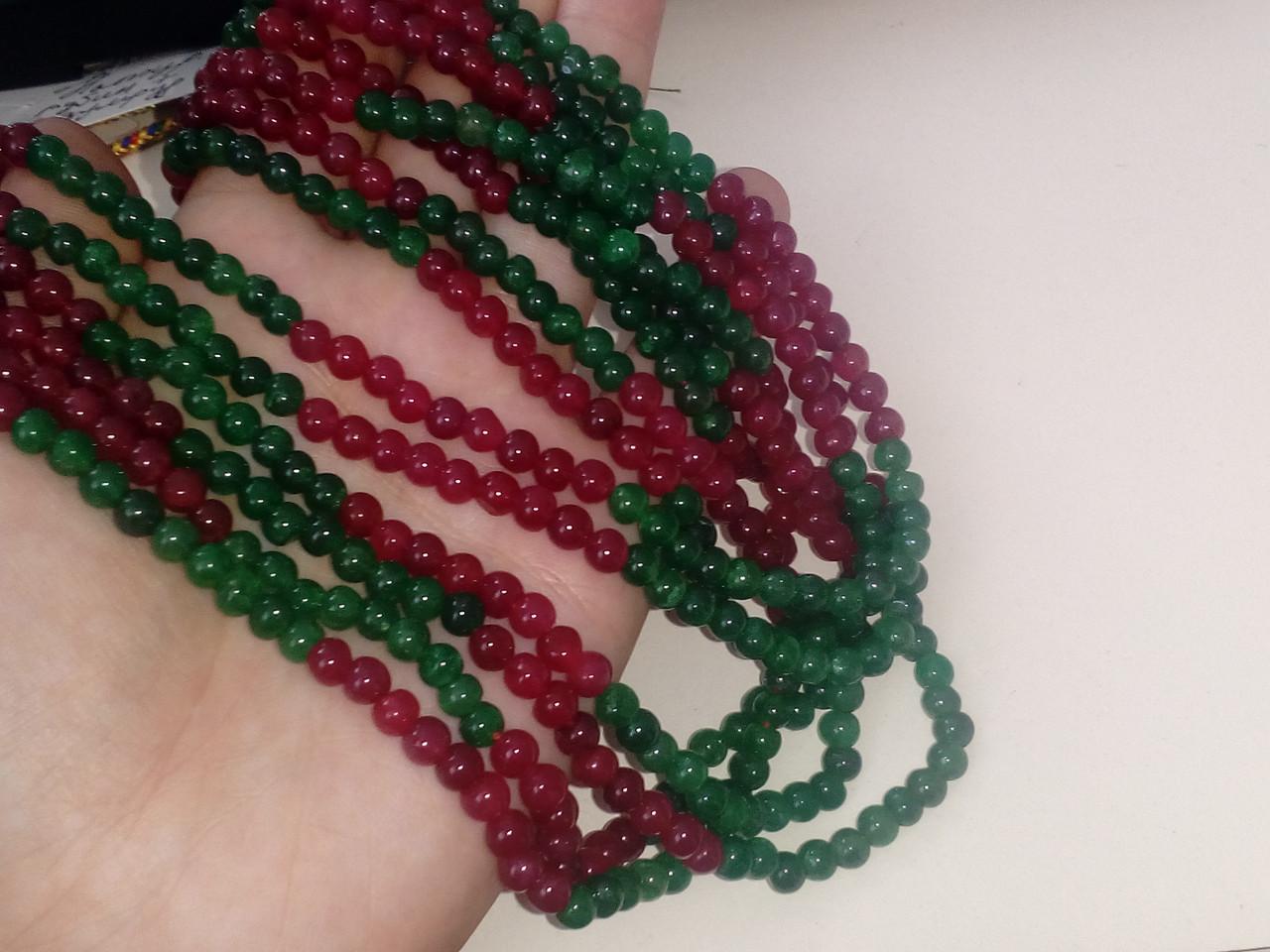 Бусы изумруд рубин, ожерелье с натуральным рубином изумрудом. Индия!