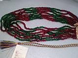 Бусы изумруд рубин, ожерелье с натуральным рубином изумрудом. Индия!, фото 3