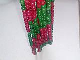Бусы изумруд рубин, ожерелье с натуральным рубином изумрудом. Индия!, фото 4
