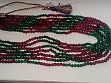 Бусы изумруд рубин, ожерелье с натуральным рубином изумрудом. Индия!, фото 5