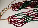 Бусы изумруд рубин, ожерелье с натуральным рубином изумрудом. Индия!, фото 6