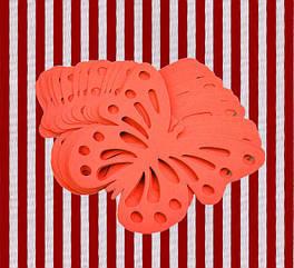 Декор бумажные бабочки (уп. 24шт) красный