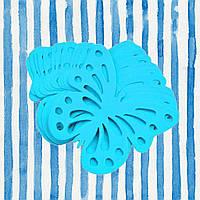 Декор бумажные бабочки (уп. 24шт) лазурный