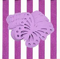 Декор бумажные бабочки (уп. 24шт) лиловый