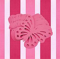 Декор бумажные бабочки (уп. 24шт) малиновый