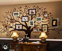 Виниловая интерьерная наклейка на стену дерево большое