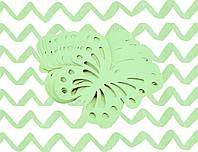 Декор бумажные бабочки (уп. 24шт) мятный