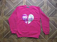 Теплый модный батник 2-х нитка на байке  для девочек -подросток 140-146 см Турция