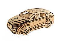 Деревянный 3D-пазл РЕЗАНОК Автомобиль Hyundai 120 элементов (REZ0008)