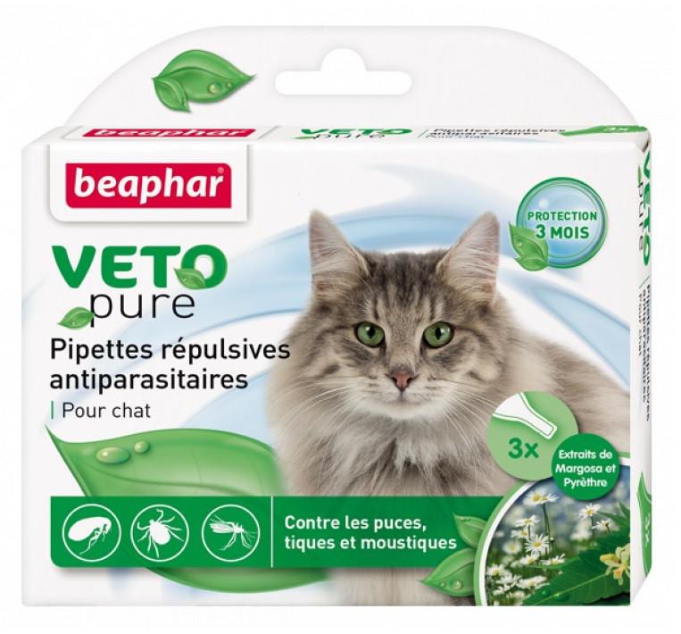 Капли Beaphar Veto Pure (от блох, клещей и комаров) для котов