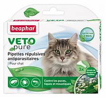 Краплі Beaphar Veto Pure (від бліх, кліщів і комарів) для котів (1 піпетка)