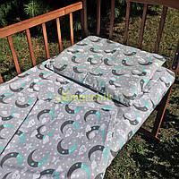 Постельный набор в детскую кроватку (3 предмета) Полумесяц