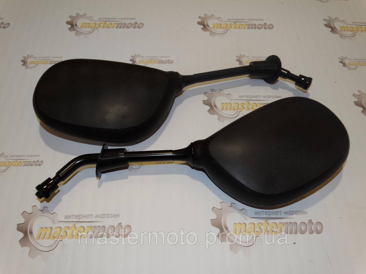 """Зеркала черные овальные для скутеров (М8), """"MotoTech"""" ZX-22. Отличное качество."""
