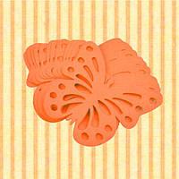 Декор бумажные бабочки (уп. 24шт) оранжевый