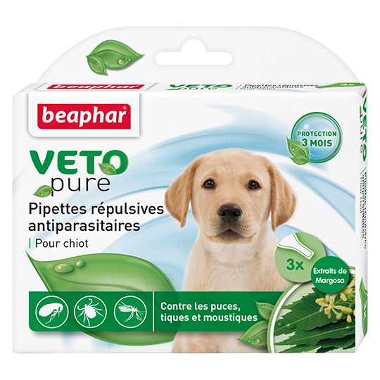 Капли Beaphar Veto Pure (капли от блох, клещей и комаров) для щенков