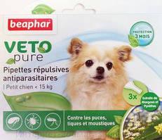 Краплі Beaphar Veto Pure (краплі від бліх, кліщів і комарів) для собак до 15кг (1 піпетка)