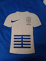 "Медальница ""Футболка"" Brasil Бразилія. Тримач для медалей. Холдер для медалей з фанери"