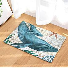 Абсорбирующий коврик «Синий кит» 40×60 см