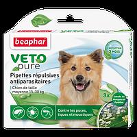 Краплі Beaphar Veto Pure (краплі від бліх, кліщів і комарів) для собак 15-30кг (1 піпетка)