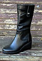 Женские кожаные сапоги, фото 1
