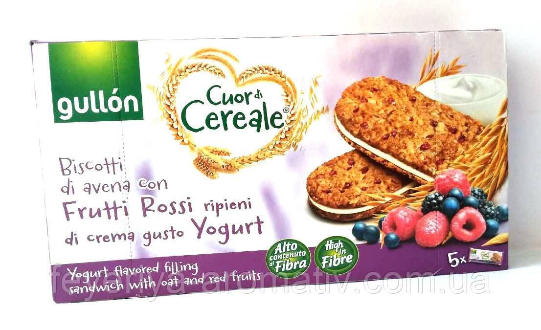 Злаковое печенье с йогуртовым кремом и фруктами Gullon Cuor di Cereale 220гр (Испания)