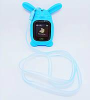 Кулон-чехол Зайчик голубой для умных детских смарт-часов Q90
