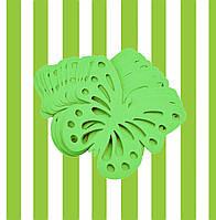 Декор бумажные бабочки (уп. 24шт) салатовый