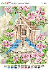 БС 4198 . Схема для вишивки бісером Весна в садку
